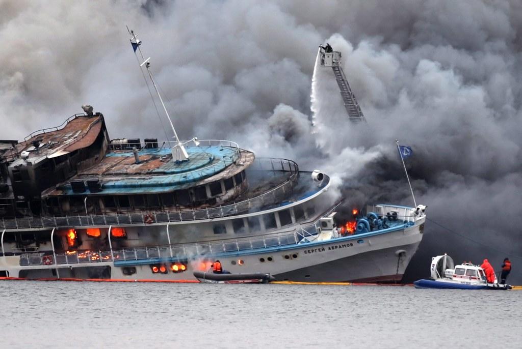 Картинки горящего парохода