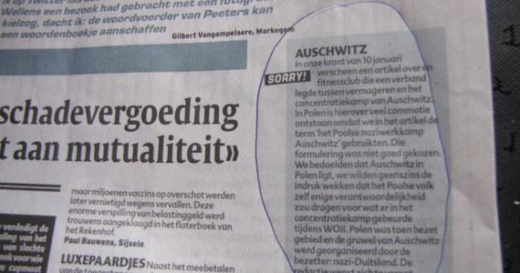 """Po interwencji RMF FM belgijska gazeta """"Het Laatste Nieuws"""" przeprosiła w dzisiejszym wydaniu za określenie """"polski nazistowski obóz pracy Auschwitz"""". Sformułowanie to znalazło się w artykule opisującym skandal wokół siłowni z Dubaju, która wykorzystała zdjęcia obozu w reklamie."""