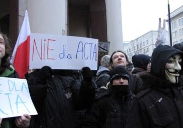 Warszawski protest przeciw ACTA
