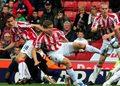 Awaryjne lądowanie piłkarzy Stoke City