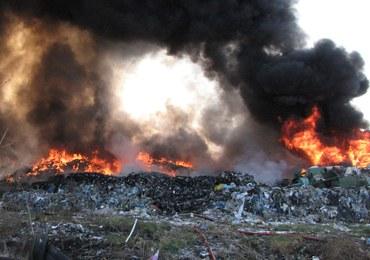 Wielki pożar wysypiska śmieci w Zachodniopomorskiem