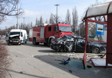 Poważny wypadek w centrum Warszawy