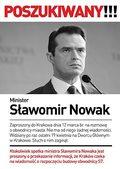 Plakat: Zaginął minister Nowak! Jest poszukiwany!