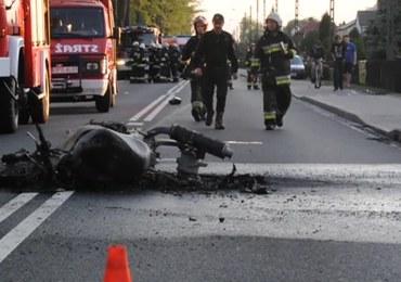Wypadek dwóch motocykli w Opolskiem. Jedna osoba nie żyje