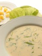 Zupa z sałaty na żętycy