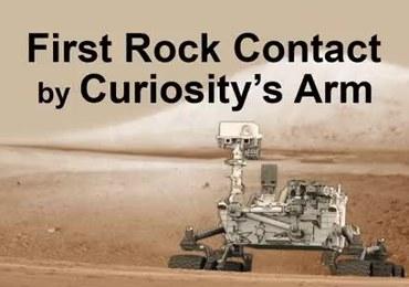 Curiosity Marsie zbadał pierwszy kamień