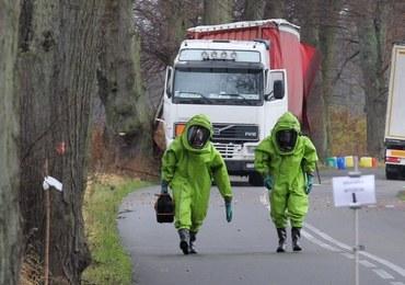 Skażenie chemiczne po wypadku ciężarówki