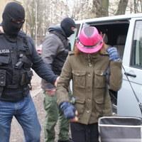 Ujęcie Katarzyny W. oskarżonej o zabicie córki w Sosnowcu