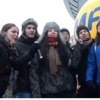 """""""Pójdźmy wszyscy do stajenki"""" – grupa przyjaciół: Daniel, trzy Magdy, Grzegorz i Sebastian"""