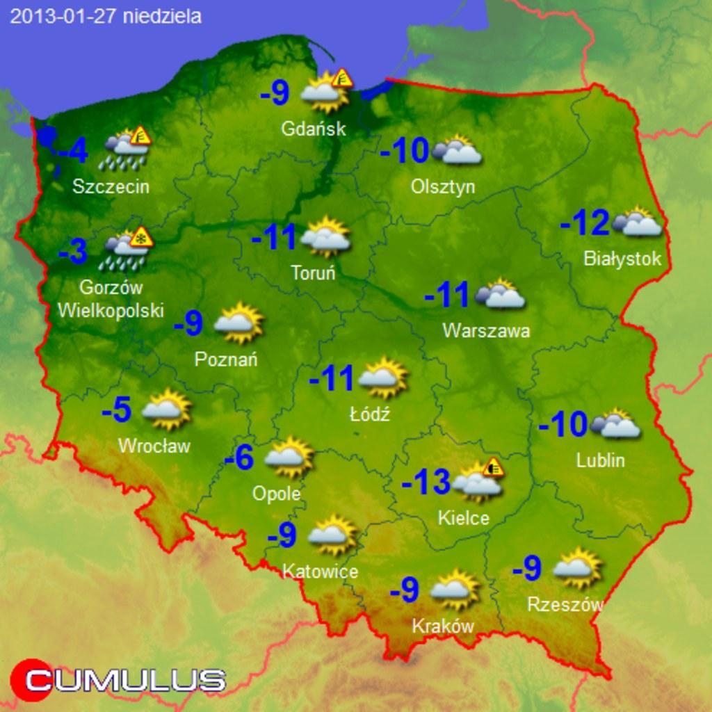 Prognoza Pogody Na Najblizszy Tydzien Mapy 1 13