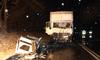 Zderzenie dwóch ciężarówek. Jedna osoba trafiła do szpitala