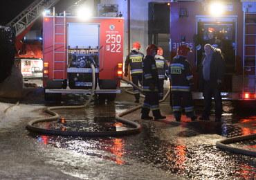 Pożar magazynu z nabiałem w Janikowie pod Poznaniem