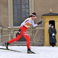 Justyna Kowalczyk na trasie zawodów w Sztokholmie [PAP/EPA/ANDERS WIKLUND SWEDEN OUT]