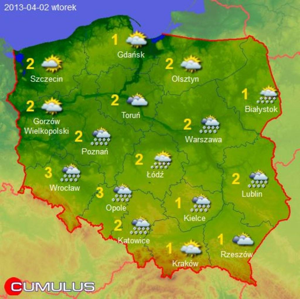 Prognoza Pogody Na Wielkanoc Mapy 1 6 Zdjecia Rmf 24