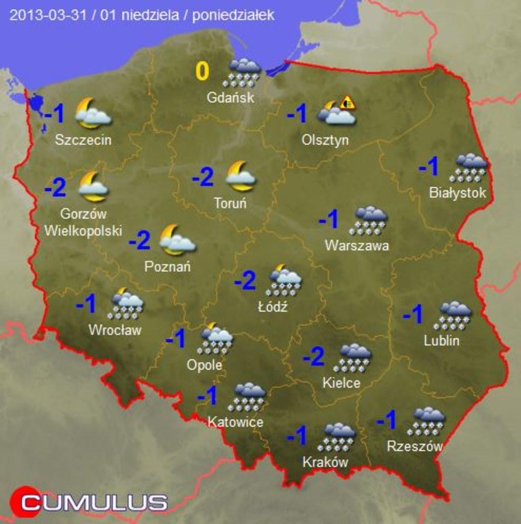 Prognoza Pogody Na Wielkanoc Mapy