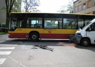 Wypadek autobusu w Łodzi, 14 osób rannych