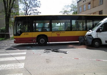Łódź: Wypadek autobusu MPK, 14 osób jest rannych