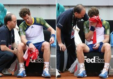 Grymas bólu Murraya. Musiał skreczować z powodu kontuzji. ZDJĘCIE