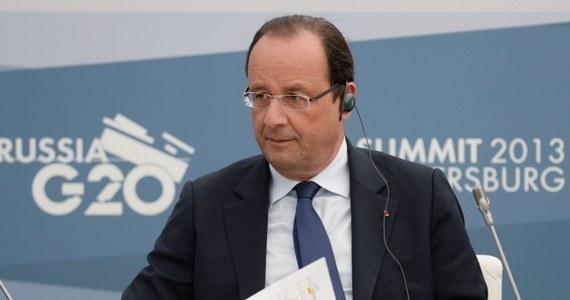 Francja spuszcza z tonu w sprawie Syrii na szczycie G20 w Petersburgu - donoszą nadsekwańskie media powołując się na Pałac Elizejski. Pałac Elizejski sugeruje, że Francois Hollande zrezygnował już z przekonywania innych krajów do aktywnego udziału w ewentualnej interwencji zbrojnej przeciwko syryjskiemu reżimowi.