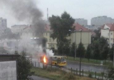 We Wrocławiu zapalił się autobus