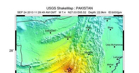 Potężne trzęsienie ziemi nawiedziło południowo- zachodnią część Pakistanu. Według amerykańskiej służby geologicznej United States Geological Survey) wstrząsy miały siłę  7,8 st. w skali Richtera. Ich epicentrum znajdowało się niedaleko miasta Dalbandin w prowincji Beludżystan. Według ostatnich informacji zginęło co najmniej 39 osób.