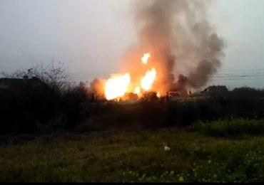 Potężny pożar po wybuchu gazu