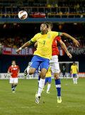 Brazylia pokonała Chile 2-1. Gol Robinho