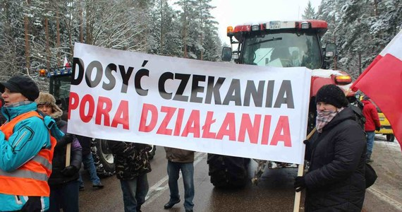 Rolnicy z gmin Raczki i Augustów w województwie podlaskim zablokują na trzy godziny skrzyżowanie dróg krajowych nr 61 i 8.