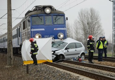 Zderzenie pociągu z samochodem w Pobidziskach