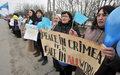 Manifestacja za jedność Ukrainy w Symferopolu