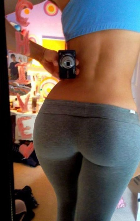 Hot beautiful thick Puerto Rican beauty in tight yoga