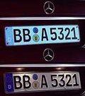 Świecące tablice Mercedesa