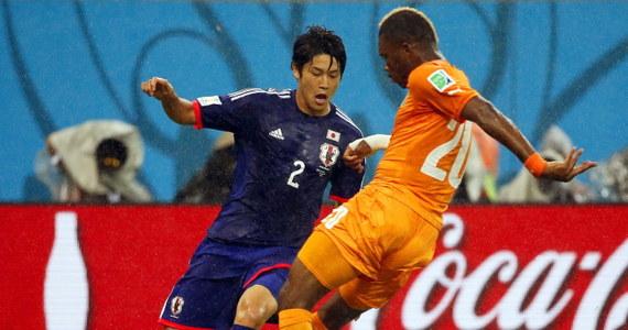 Reprezentacja Wybrzeża Kości Słoniowej pokonała Japonię w meczu grupy C piłkarskich mistrzostw świata. Spotkanie w Recife, podobnie jak kilka innych podczas tegorocznego mundialu, toczyło się w strugach ulewnego deszczu.