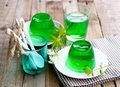 Zielona galaretka