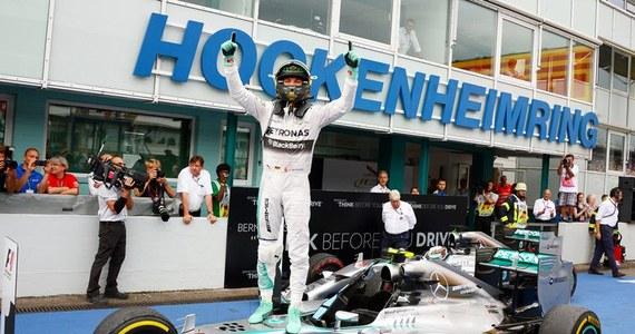 Niemiec Nico Rosberg z teamu Mercedes GP wygrał wyścig o Grand Prix Niemiec, 10. rundę mistrzostw świata Formuły 1 i umocnił się na pozycji lidera klasyfikacji generalnej.