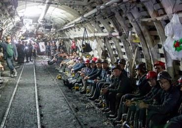 Protest górników w kopalni Kazimierz Juliusz w Sosnowcu