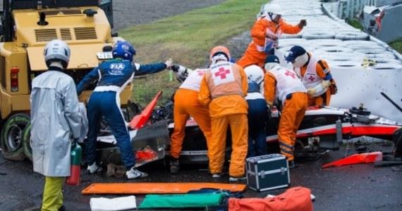 Wyścig Formuły 1 o Grand Prix Japonii na torze Suzuka został przerwany na siedem okrążeń przed końcem, po wypadku Francuza Julesa Bianchiego (Marussia). Kierowca ma poważne obrażenia głowy. Stan 25-latka jest krytyczny.