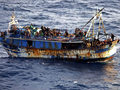 Wywrócił się statek z imigrantami