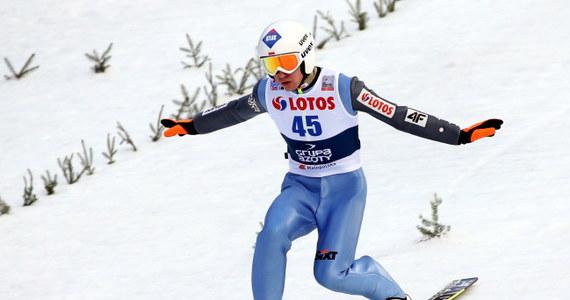 Kamil Stoch uzyskał drugi rezultat - 128,5 m na drugim treningu na Wielkiej Krokwi w Zakopanem przed sobotnim konkursem drużynowym Pucharu Świata w skokach narciarskich. Piotr Żyła był piąty - 116 m.