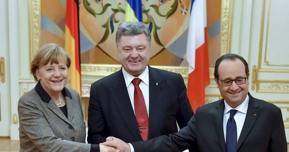 """Zasadniczym punktem niemiecko-francuskiego planu pokojowego jest bezzwłoczne uzgodnienie zawieszenia broni oraz przyznanie separatystom we wschodniej Ukrainie daleko idącej autonomii na obszarze większym od dotychczas ustalonego - pisze """"Sueddeutsche Zeitung""""."""