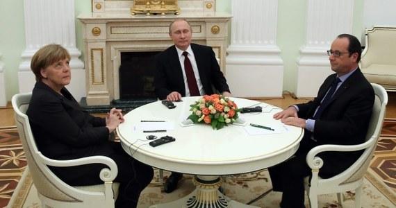 Wieczorem na Kremlu w rozpoczęło się spotkanie prezydenta Rosji Władimira Putina z prezydentem Francji Francois Hollande'em i kanclerz Niemiec Angelą Merkel. Przywódcy Francji i Niemiec przylecieli do Moskwy, aby podjąć próbę zażegnania konfliktu na Ukrainie.