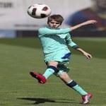 Justin Bieber na treningu FC Barcelona