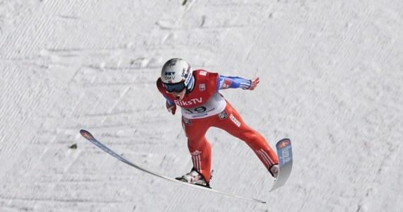 Piotr Żyła zajął 14. miejsce w konkursie Pucharu Świata w lotach narciarskich w Vikersund. Zwyciężył Niemiec Severin Freund, a drugi był Norweg Anders Fannemel, który w 1. serii ustanowił rekord, skacząc 251,5 m. Na najniższym stopniu podium znalazł się kolejny Norweg - Andre Johann Forfang.