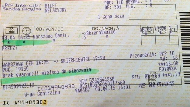 """Protest miejscówkowy"""" pasażerów. Jest reakcja PKP Intercity - RMF 24"""