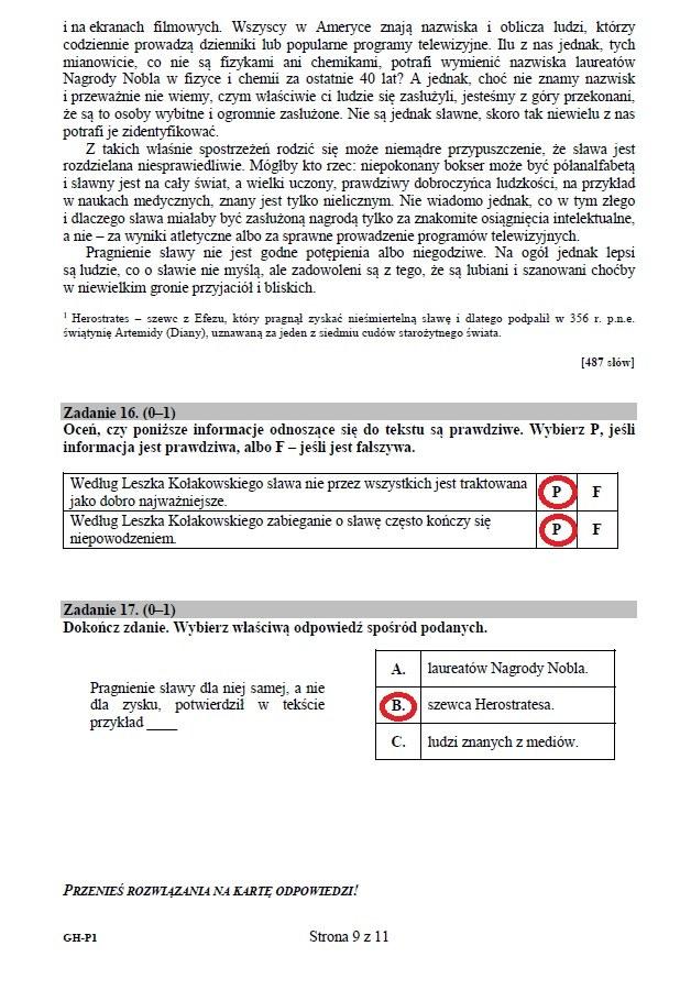 Egzamin Gimnazjalny 2015 Arkusze I Rozwiązania Z Języka