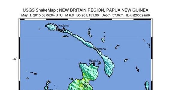 Trzęsienie ziemi o sile 6,8 w skali Richtera nawiedziło wybrzeże Papui-Nowej Gwinei. Nie wydano jednak ostrzeżenia przed tsunami. Nie ma również doniesień o ofiarach i zniszczeniach.