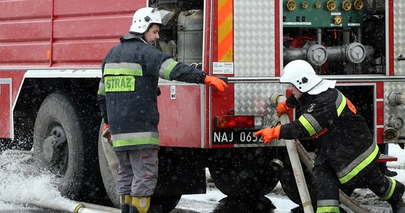 Pożar butli z gazem w centrum handlowym Land na warszawskim Mokotowie. Ewakuowano 400 osób.