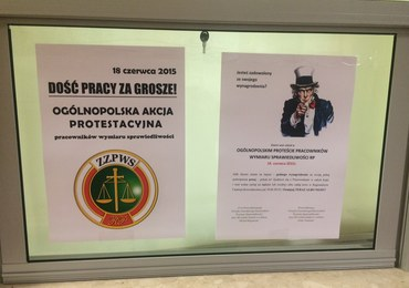 Protest pracowników sądów. Chcą podwyżek