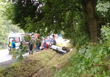 Wypadek na zakopiance. 1 osoba została ranna