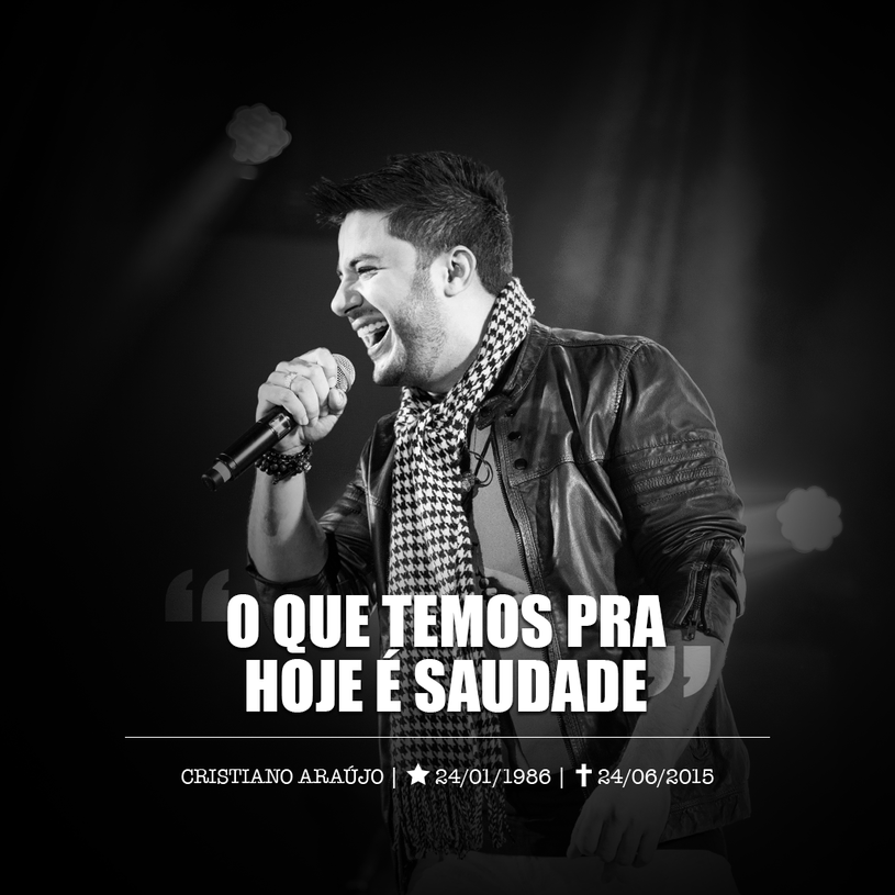 24 czerwca w wypadku samochodowym zginął brazylijski wokalista Cristiano Araújo wraz ze swoją dziewczyną. Prawdopodobnie para nie miała zapiętych pasów bezpieczeństwa.